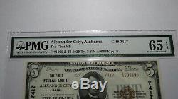 5 $ 1929 Billet De Billet De Banque De La Monnaie Nationale Alexander City Alabama Al! Gem Unc65epq