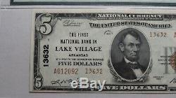 $ 5 1929 Lake Village Arkansas Ar Banque Nationale Monnaie Remarque Le Projet De Loi # 13632 Unc64