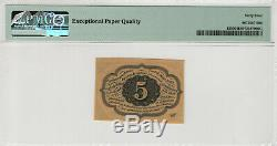 5 Cent Première Question Fractional Postal Monnaie Père 1230 Pmg Choice Unc 64 Epq (006)