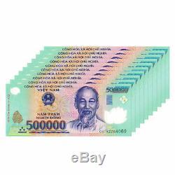 5 M Dong = 10 X 500000 500000 Vietnam Polymer Monnaie Billets Unc