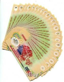 5 M Dong Monnaie = 25 X 200000 200000 Dong Vietnam Billet Unc