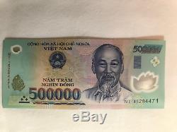 5 Millions De Billets De Banque = 10 X 500 000 Billets De Billets De Dong Vietnam Unc