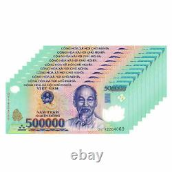 5 Millions De Dong = 10 X 500 000 500 000 Vietnam Polymère Monnaie Billets Unc