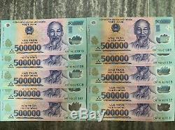 5 Millions De Dong Banknote = 10 X 500 000 500000 Dong Vietnam Billets De Ville Unc