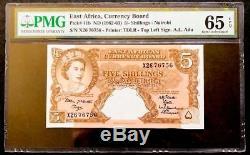 5 Shillings Nd (1962-63) Nairobi East Africa, Bureau De La Monnaie Pmg 65 Epq Gem Unc
