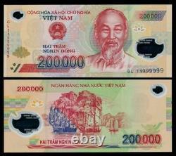 5 X 200.000 Vietnam Dong Unc Billets De Banque 1 Million Vnd Argent Monétaire Vietnamien