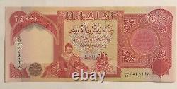 5 X 25 000 Banques De Dinar Iraqi Unc = 125 000 Iqd, Monnaie Authentique Certifiée