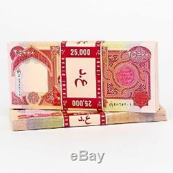 75000 New Dinar Billets 25000 Irakien Devise Ongecirculeerd 25k Iqd Argent