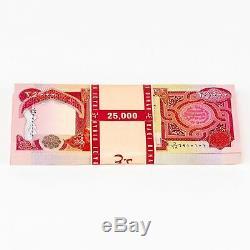 75000 Nouveau 25000 Ongecirculeerd Dinar Irakien 25k Iqd 3/40 Millions Irak Monnaie