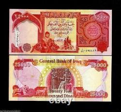 8 X 25 000 = 200 000 Unc Iqd Irakien Dinar Banknote- Irak Dinars Monnaie / Argent