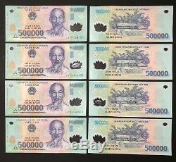 8 X 500 000 Vietnam Dong Money Polymeres Billets De Billets Millions De Vietnamiens Unc