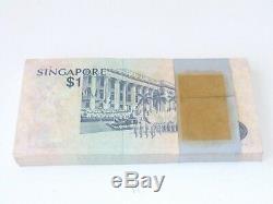 99 Pièces Bundle Singapore $ 1 Bird Flag Dancer Unc Currency Money - Billet De Banque