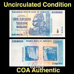 Acheter Zimbabwe Currency Zimbabwe 100 Trillions De Dollars Aa 2008 Unc, Coa Inclus
