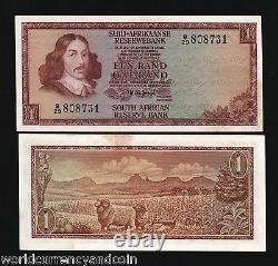 Afrique Du Sud 1 Rand P-116 1973 X 100 Pcs Lot Bundle Rams Unc Currency Bill Note