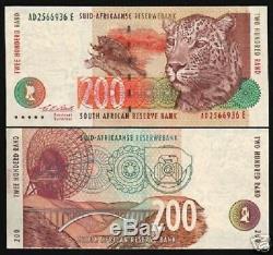 Afrique Du Sud 200 Rand 127a 1994 Leopard Plat Antena Unc Monnaie Mondiale Remarque Rare