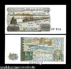 Algérie 10 Dinars P132 1983 Bundle Train Unc Afrique Banknote Monnaie 100 Notes