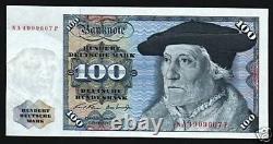Allemagne 100 Marks P34a 1970 Munster Unc Eagle Euro Billet D'argent En Monnaie Allemande