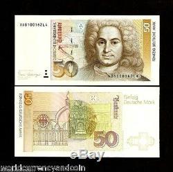 Allemagne 50 Marques P40 1989 Deutsche Euro Unc Neuman Dessin Monnaie Mondiale Note