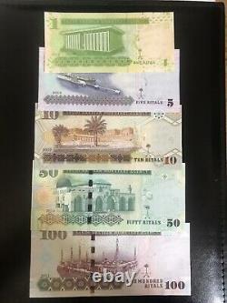 Arabia Saoudienne 1 -100 Jeu De Billets De 2012 Unc Devise