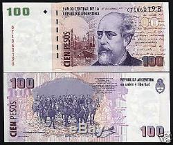 Argentine 100 Pesos P357 2012 Carte Des Navires À Cheval Unc Monnaie Latino-américaine Billets De Banque Note