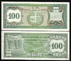 Aruba 100 Florin P5 1986 Hôtel Drapeau Pays-bas Unc Caraïbes Monnaie Bill Note