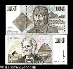 Australie 100 Dollars P48 C 1990 Mawson Unc Fraser / Higgins Money Bank Note