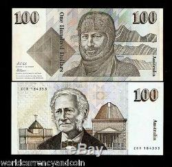 Australie 100 Dollars P48 D 1992 Mawson Unc Cole / Fraser Argent Bill Bank Note