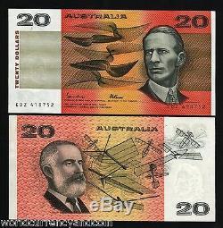 Australie 20 Dollars P46 E 1985 Smith Aéronautique Unc John / Fra Inscription Note Argent
