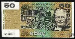Australie 50 $ Dollars P47 A 1973 Rat Satellite Chien Unc Rare Monnaie Note Money