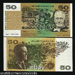 Australie 50 Dollars P47 G 1989 Satelite Rat Dog Unc Fraser / Higgins Sign Note