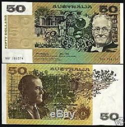 Australie 50 Dollars P47c 1979 Rat Chien Unc Satelite Monnaie Argent Bill Banknote