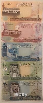 Bahreïn 1/2 20 Dinars 5 Billets De 2006 -2008 Unc Monnaie