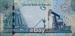 Bahreïn Monnaie 2008 Paire Argent 5 Numéro De Série De Remplacement Dinar Billet Unc