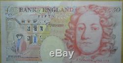 Banque Réelle De La Monnaie De L'argent Angleterre Cinquante Billets £ 50 Livres 1994 1999 2006