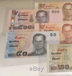 Billets Siam Roi Rama IX Thaïlande Memorial De Précieuses Devises Rares Et Précieux