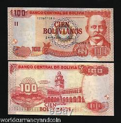 Bolivie 100 Bolivianos P226 2001 Université Unc Latino Monnaie Money Bank Note