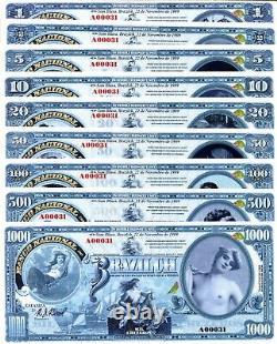 Brésilch Série De 9 Fun/art Notes Numéro Privé 2020 Monnaie Nue Femmes