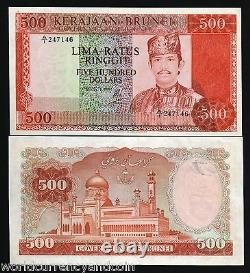 Brunei $500 Ringgit P11 A 1979 Unc Sultan Mosque Rare Currency Money Bank Note
