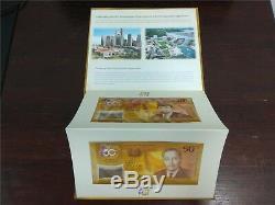 Brunei Singapour 50 Ans Devise Accord Interchangeabilité Comm Unc Notes