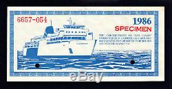 Canada 1986 Devise Locale Manitoulin 3 Dollar Scrip Specimen Ch Unc