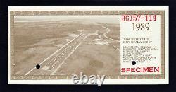 Canada 1989 Monnaie Locale Manitoulin 3 Dollar Scrip Specimen Unc