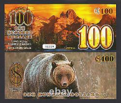 Canada 2013 Polymer Local Currency Bc, 100 Community Dollars Unc