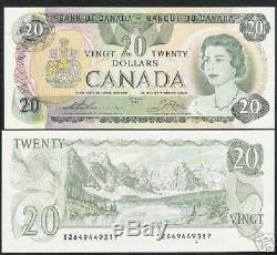 Canada $ 20 P93c 1979 Reine Mountain Lake Unc Bank Note Monnaie