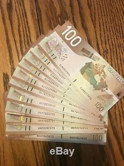 Canada Monnaie $ 2004 Dodge Billet De 100 Jenkins Unc Excellent État