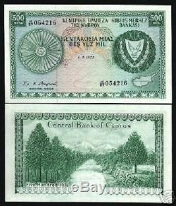 Chypre 500 Mils P42 B 1973 Montagne Pre Euro Rare Unc Monnaie Money Bank Note
