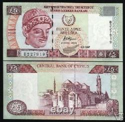 Chypre 5 Livres P58 1.2.1997 Euro Church Mosque Unc Rare Currency Money Banknote