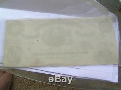 Confédéré Monnaie T8 50 $ 1861 Cr # 14. Vert C Scarce À L'avant. Unc. Remarque