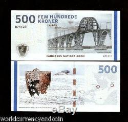Danemark 500 Kroner P68 2011 Neige Pont De Glace Carte Unc Monnaie Argent Bill Banknote