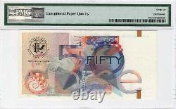 De La Rue Monnaie (gbr) 50 Unités 2001 Essai Note P-unlisted Pmg Gem Unc 66 Epq
