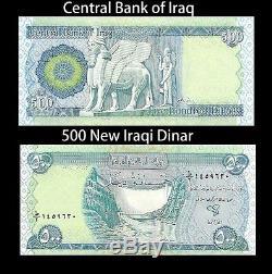 Dinar Irakien 15 000 30 X 500 Dinar Remarques Unc Devise L'argent En Irak